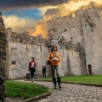 Cahir Castle,  Co.  Tipperary.  Walking through the Castle